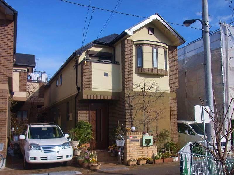住宅団地で塗り替え2棟目(2013年1月25日 完工)