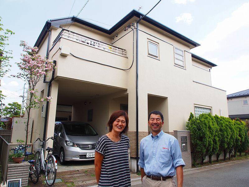 立川市T様邸 外壁屋根塗装 お客様との記念撮影