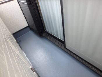 防水塗装上塗り