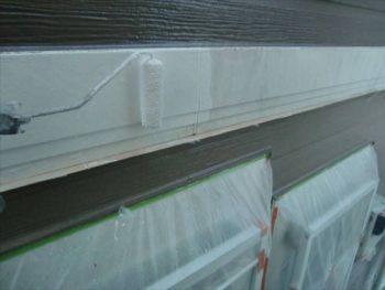 木部塗装 帯板アクセント