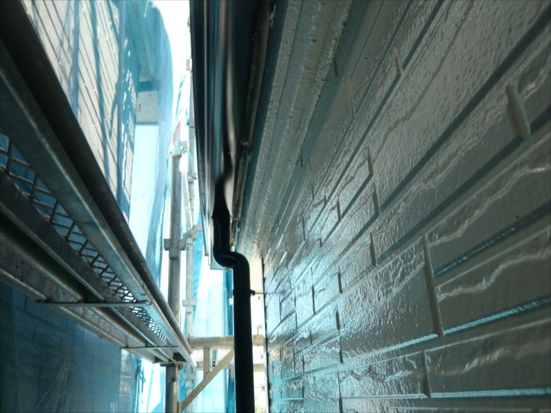 鉄部と雨樋の塗装が終わりました。