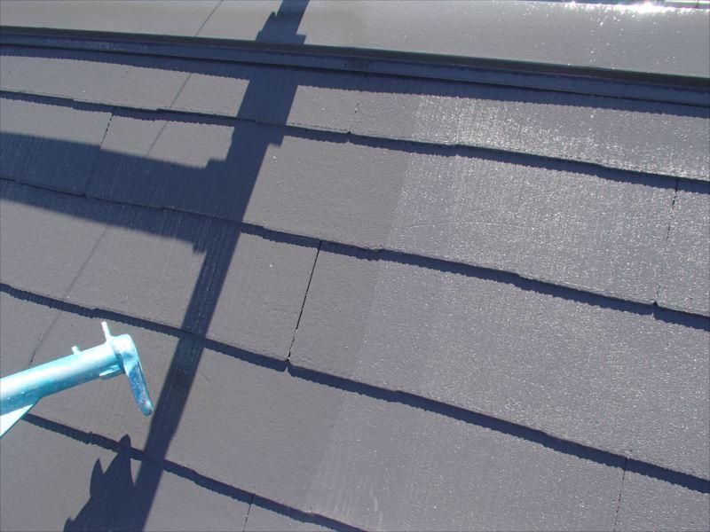 綺麗に屋根が塗り終わりました。