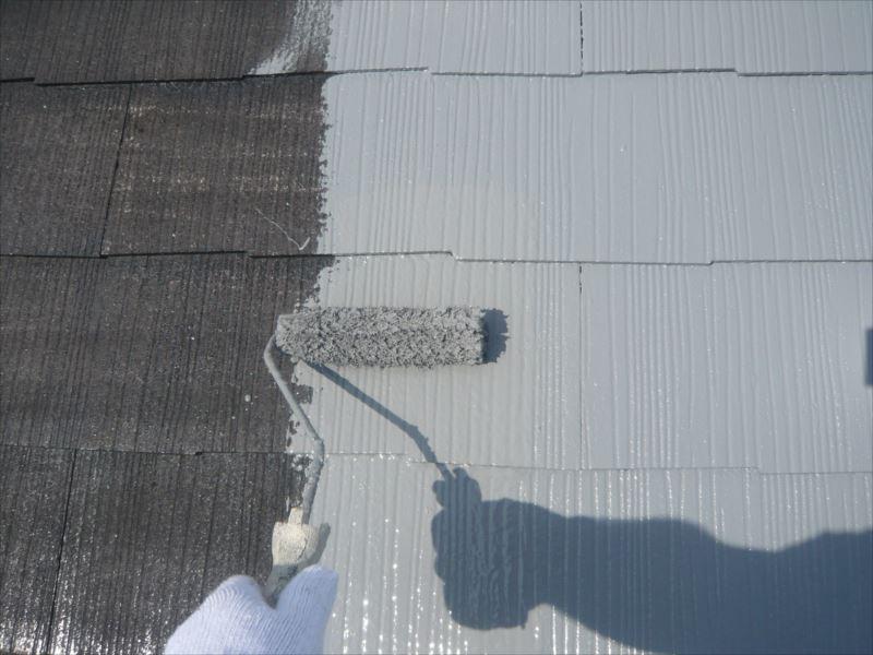 下塗りが乾いた後は、中塗りのスタートです。