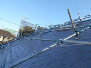 屋根はこれで完了です。