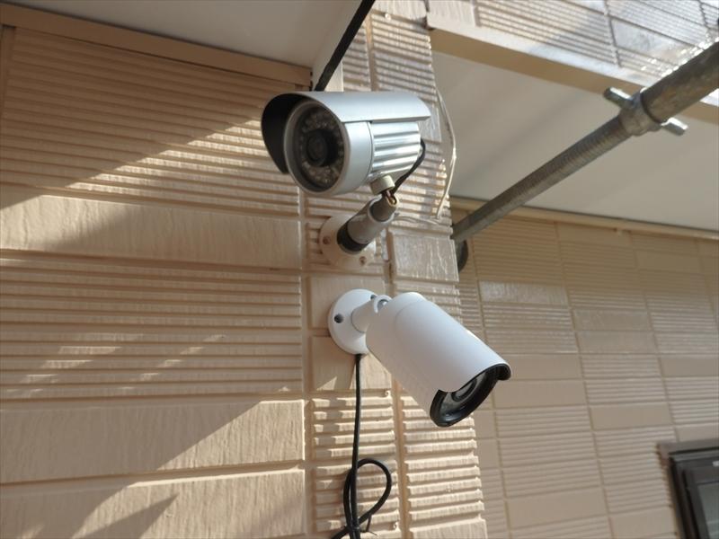 防犯カメラを取り付けました。