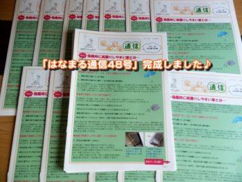 外壁塗装の情報発信「はなまる通信48号」が完成しました!(^^)!
