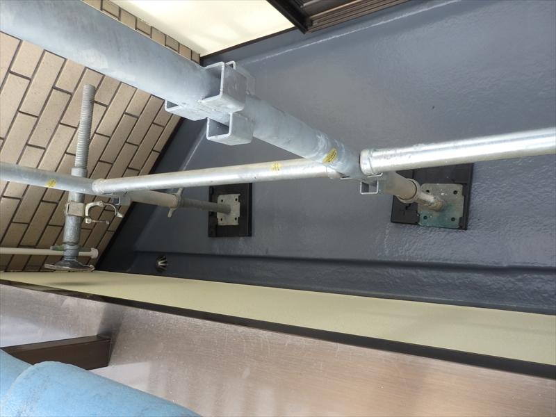 ベランダーのFRP防水の再塗装もきれいに仕上がりました。