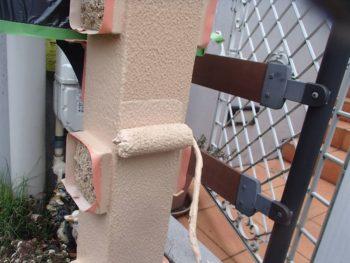 門柱も上塗りしました。