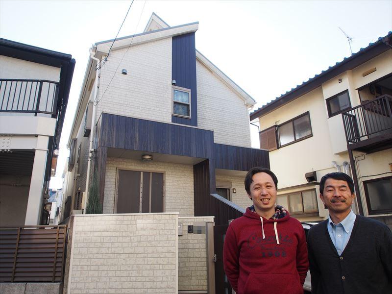 狛江市S様の外壁塗装工事の完成記念写真
