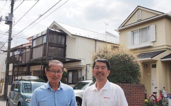 世田谷区O様の屋根塗装工事の完成記念写真