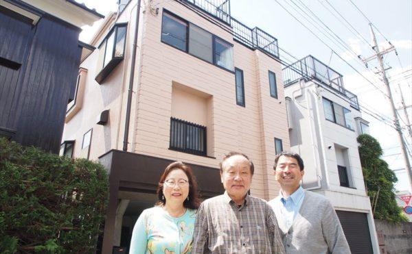 世田谷区U様の外壁塗装工事の完成記念写真