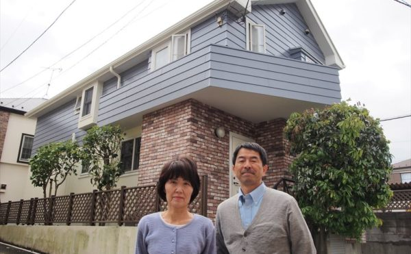 世田谷区W様の外壁塗装工事の完成記念写真