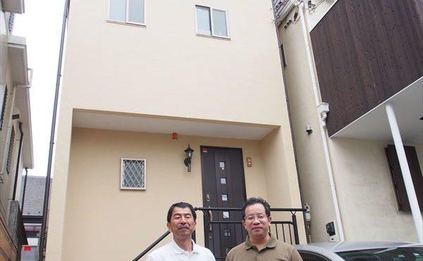 目黒区F様の外壁塗装工事の完成記念写真