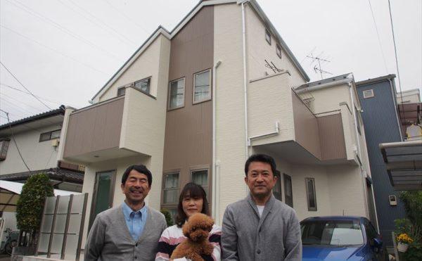 世田谷区M様の外壁塗装工事の完成記念写真