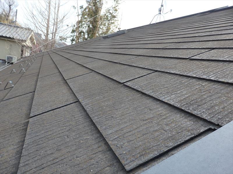 屋根は築年数に比べて思ったよりもキレイでした。