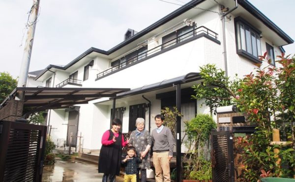 世田谷区K様の外壁塗装工事の完成記念写真