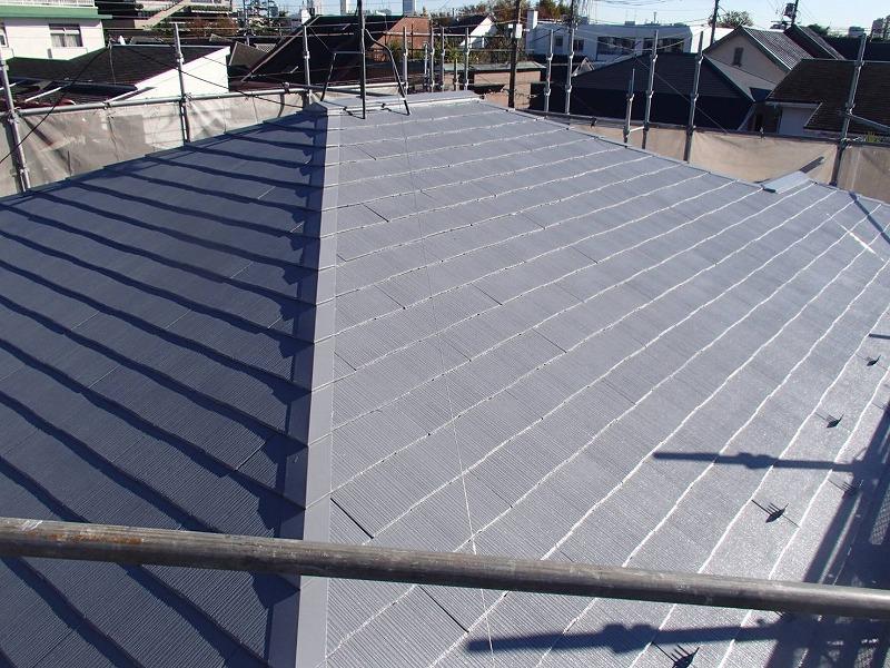 屋根の塗装が完了しました。
