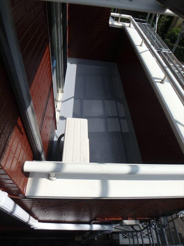 バルコニーのFRP防水を再塗装しました。