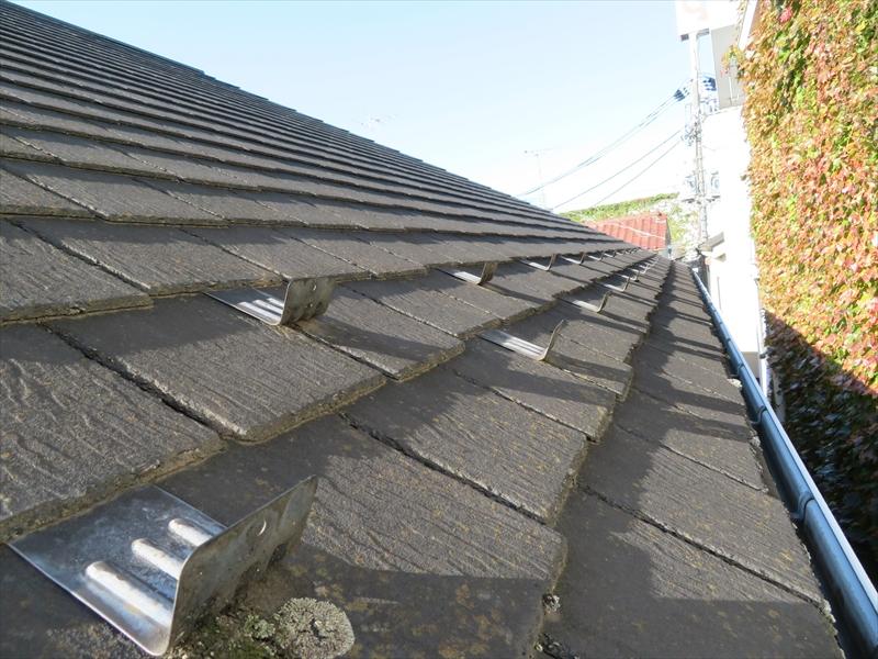 屋根には苔や汚れがついている部分が所々ありました。
