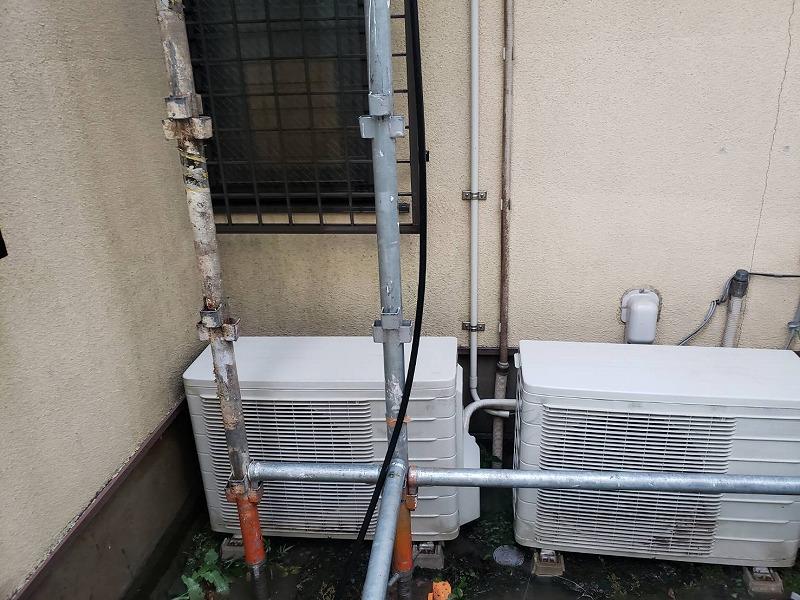 外壁の高圧洗浄で大部分の汚れはきれいになりました。