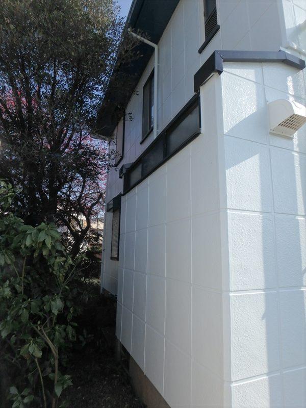 E様邸は、植栽が大きく育っていますが外壁と距離があるため、植栽への塗装の影響はほぼありませんでした。