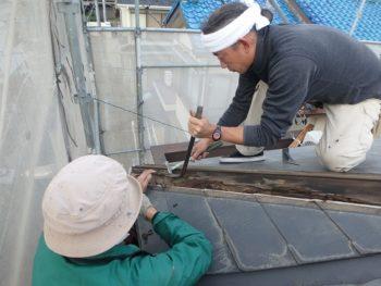 屋根 棟板金交換