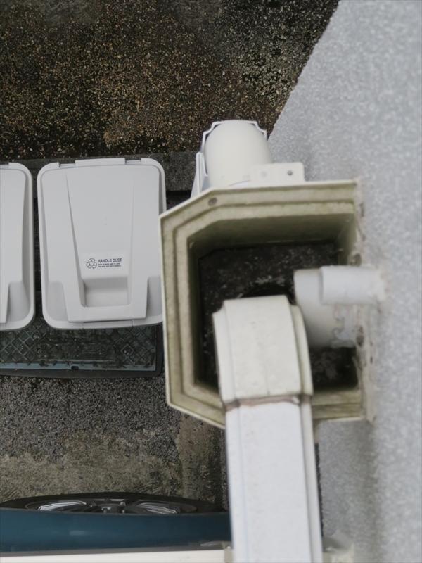雨樋の集水マスのつまり具合も確認しました。