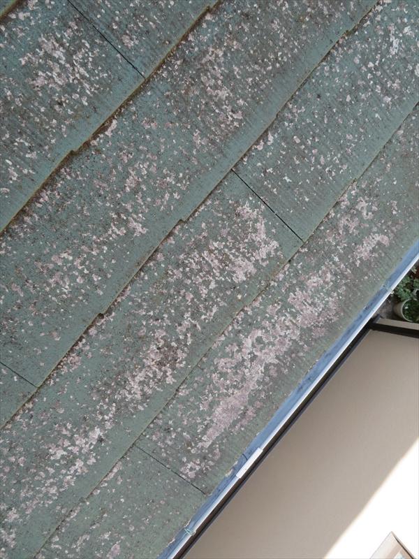 屋根部分も塗装がはがれてきています。