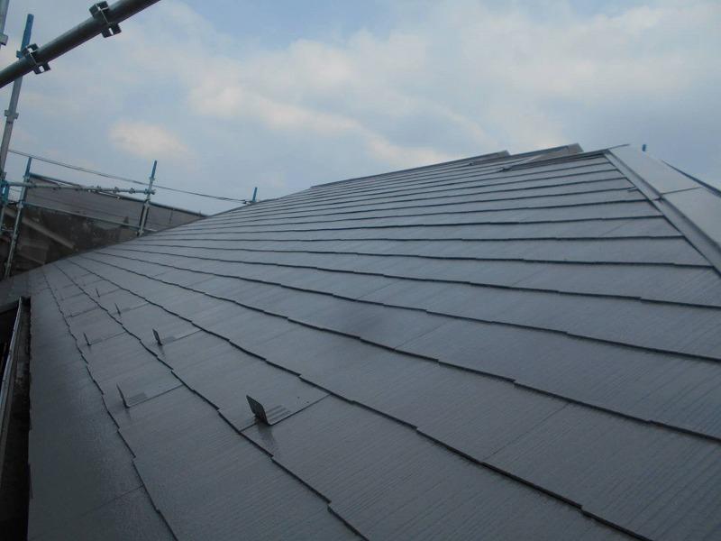 屋根の塗装が完成しました。