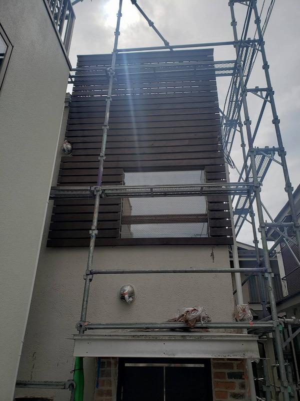 外壁塗装 世田谷区K様邸 ウッドフェンス塗装 2020032724417
