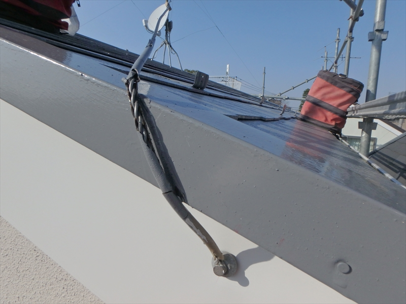 アンテナを固定する針金も再度取り付けました。