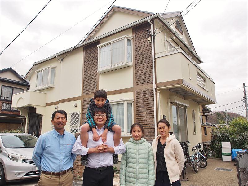 世田谷区S様の外壁塗装工事の完成記念写真