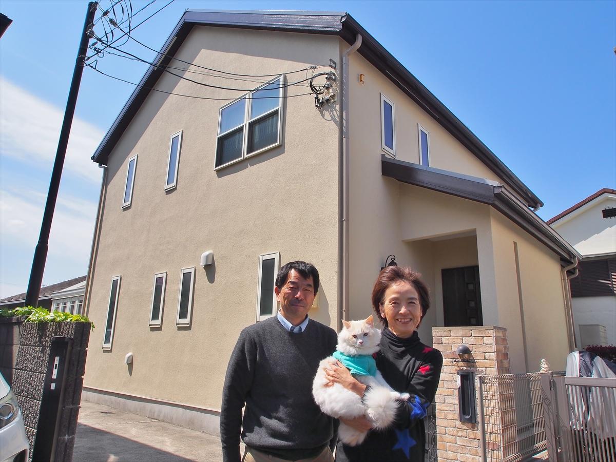 世田谷区Y様の外壁塗装工事の完成記念写真