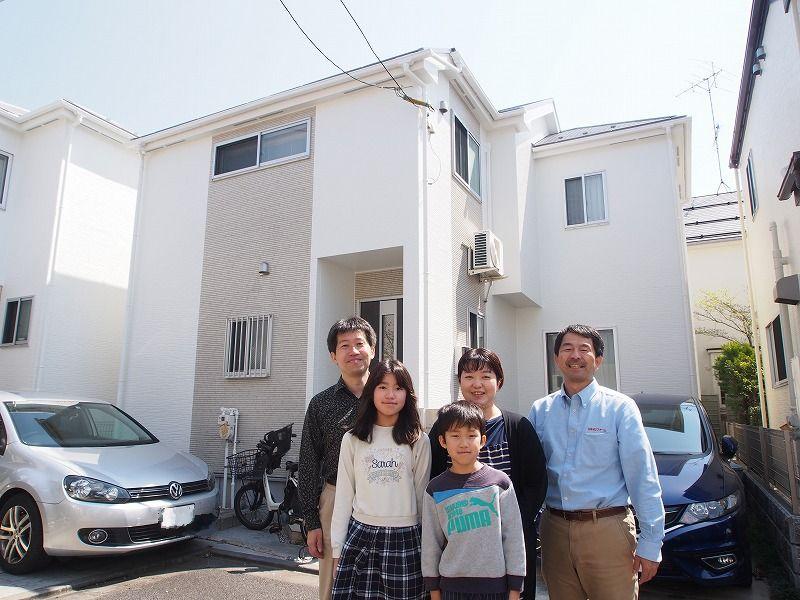 世田谷区I様の外壁塗装工事の完成記念写真