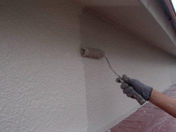 外壁塗装 杉並区M様邸 外壁上塗り中2020071316031