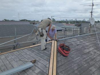 外壁塗装 杉並区M様邸 棟板交換完了20200707P7070003