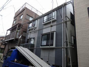 外壁塗装 世田谷区O様邸 足場設置 20180531P5310169