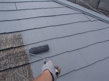 外壁塗装 杉並区M様邸 屋根中塗り中 2020071115969