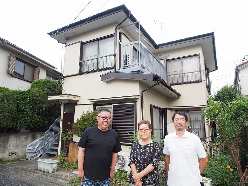 外壁塗装 世田谷区K様邸 お客様写真 P9140041