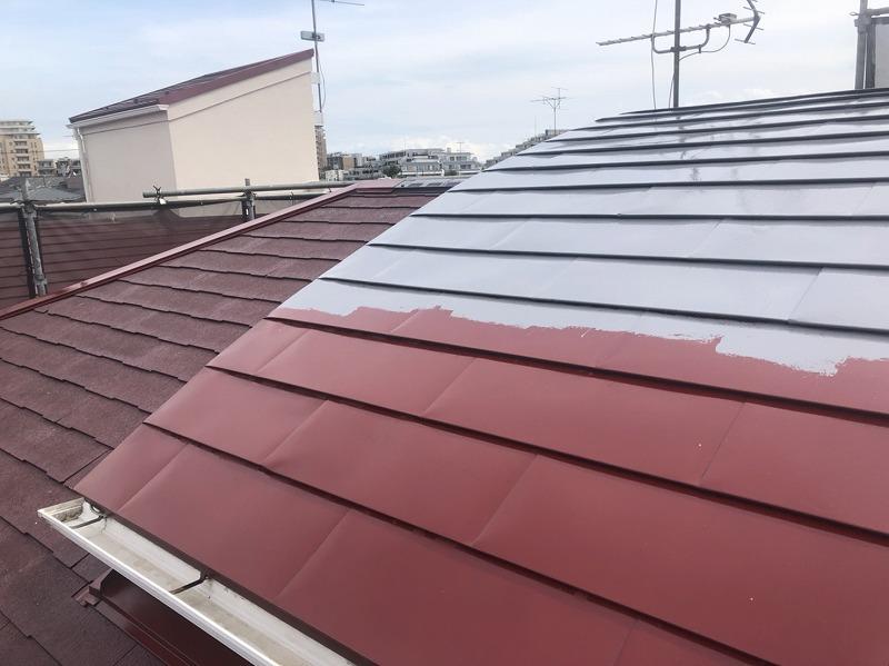 外壁塗装 世田谷区T様邸 トタン屋根中塗り中20200915S__15253534