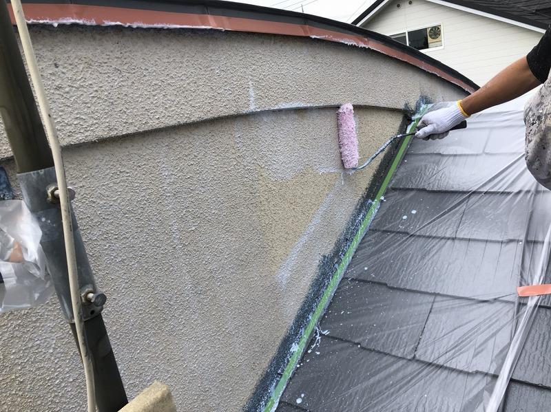 外壁塗装 世田谷区T様邸 外壁下塗り中 20200917S__15310862