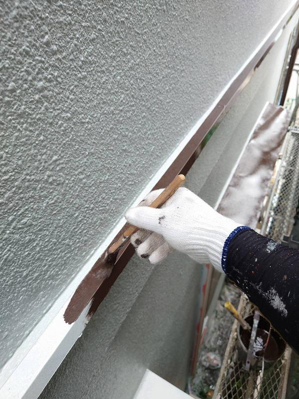 外壁塗装 世田谷区T様邸 水切りダメ直し中202009132680