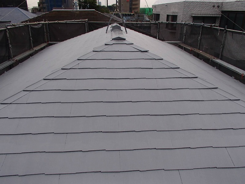 外壁塗装 世田谷区S様邸 屋根上塗り完了2020102818546