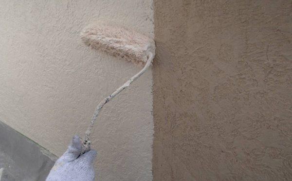 外壁塗装 世田谷区I様邸 外壁中塗り中 2020101618257