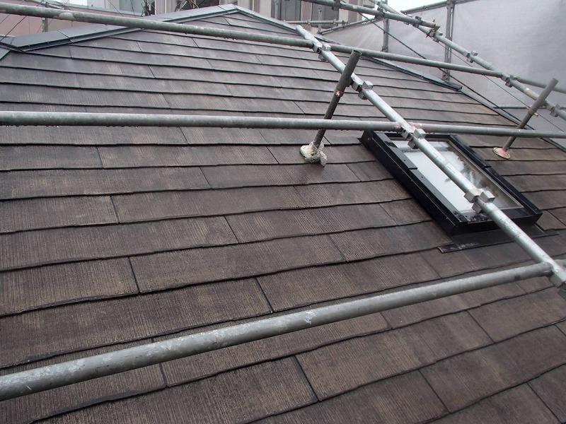 屋根の洗浄が完了しました。