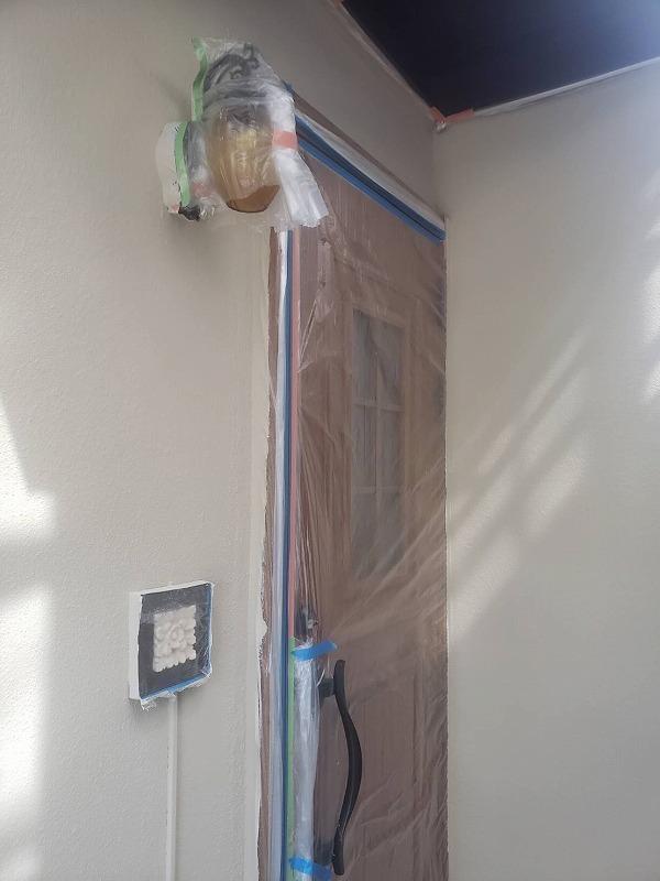 これで外壁塗装が完了しました。(エスケー化研 アートフレッシュ SR-113)