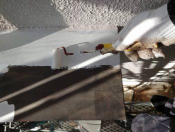 外壁塗装 世田谷区T様邸 ヒサシ塗装中 202010263988
