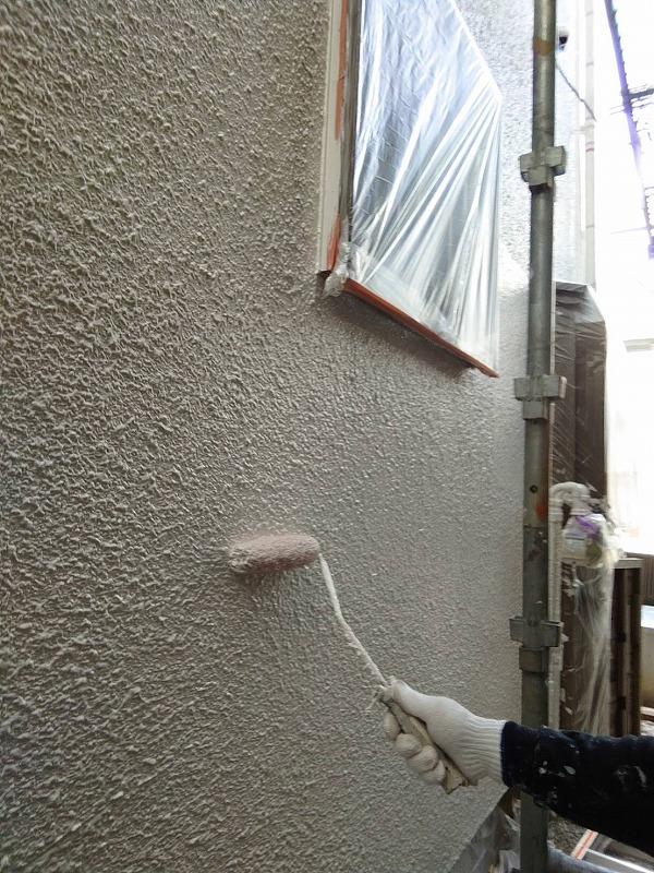 外壁塗装 世田谷区T様邸 外壁上塗り中 202010243930