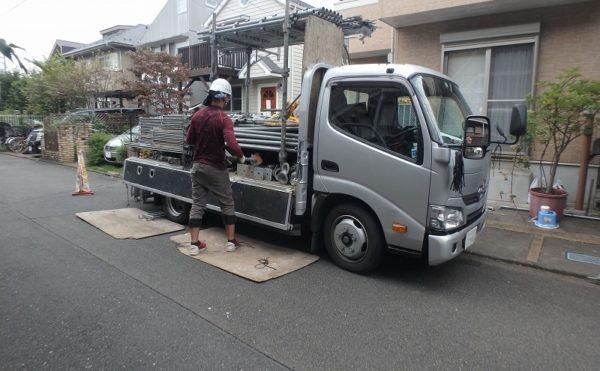 外壁塗装 小金井市T様邸 足場設置 20201015PA150075
