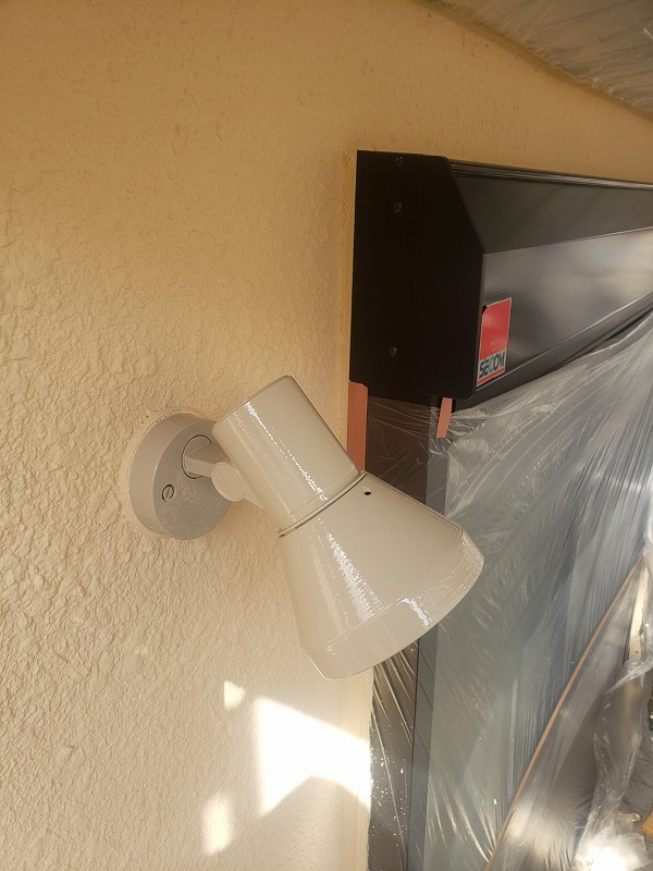 外壁塗装 世田谷区S様邸 電灯塗装完了2020111827729